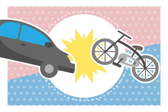 自動車と自転車の事故