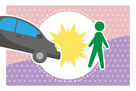 自動車と歩行者の事故