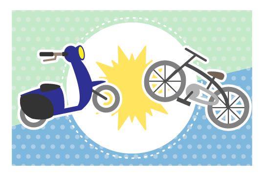 バイクと自転車の事故